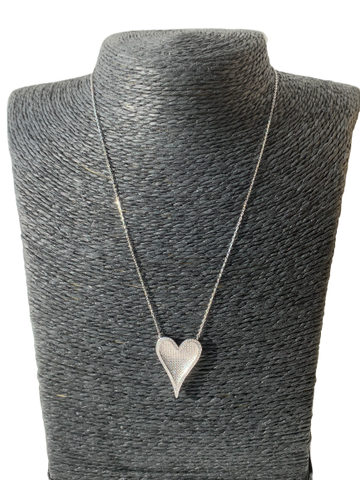 Good Heart Necklace (Silver) - Love Be Jewels