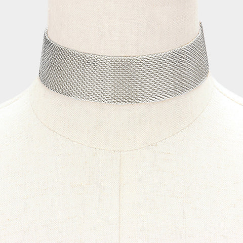 Silver Mesh Choker - Love Be Jewels
