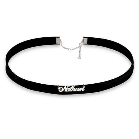 Custom Nameplate Choker - Love Be Jewels