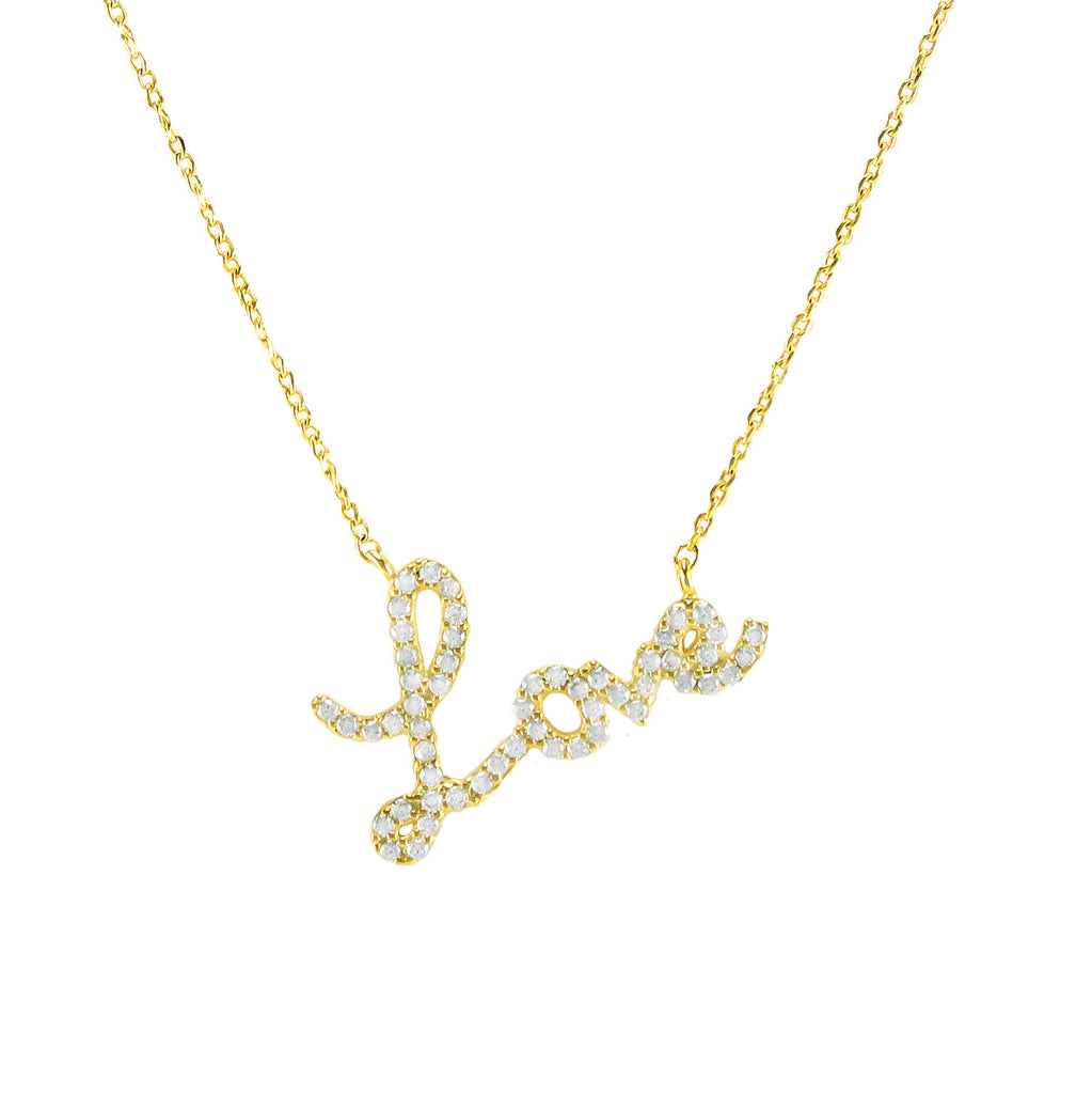Gold Love Crystal Necklace - Love Be Jewels