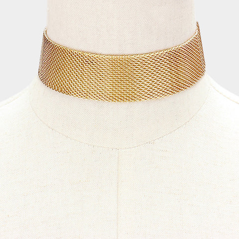 Gold Mesh Choker - Love Be Jewels