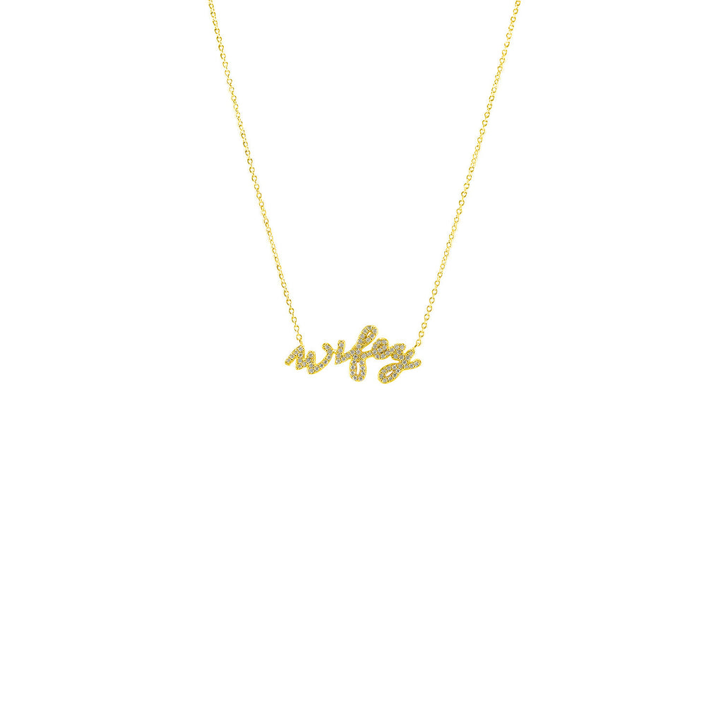 Wifey Necklace Gold - Love Be Jewels