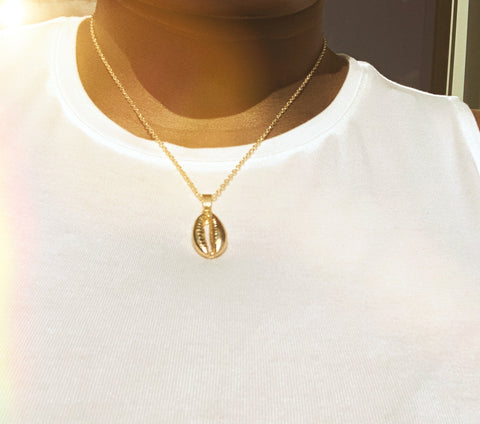 Gold Puka Shell Necklace - Love Be Jewels