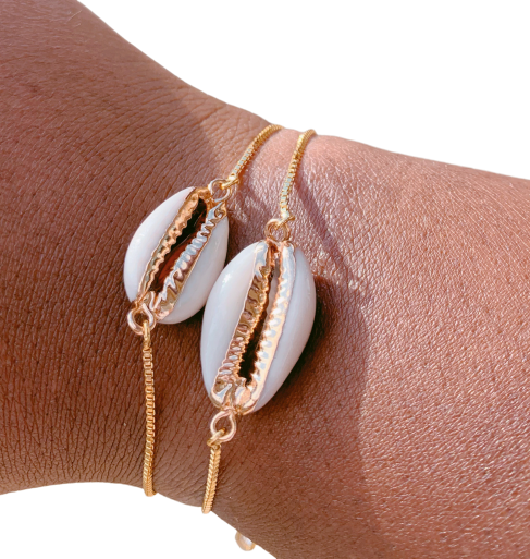White Shell Puka bracelet - Love Be Jewels