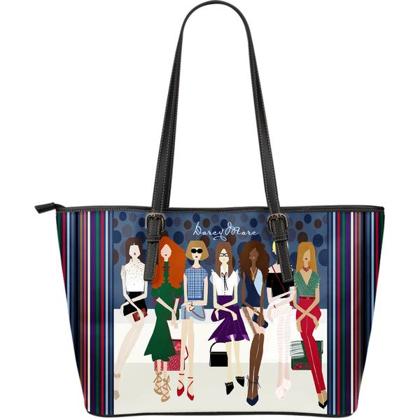 """Front Row""- DarcyMarc Limited Edition Large Faux Leather Tote"