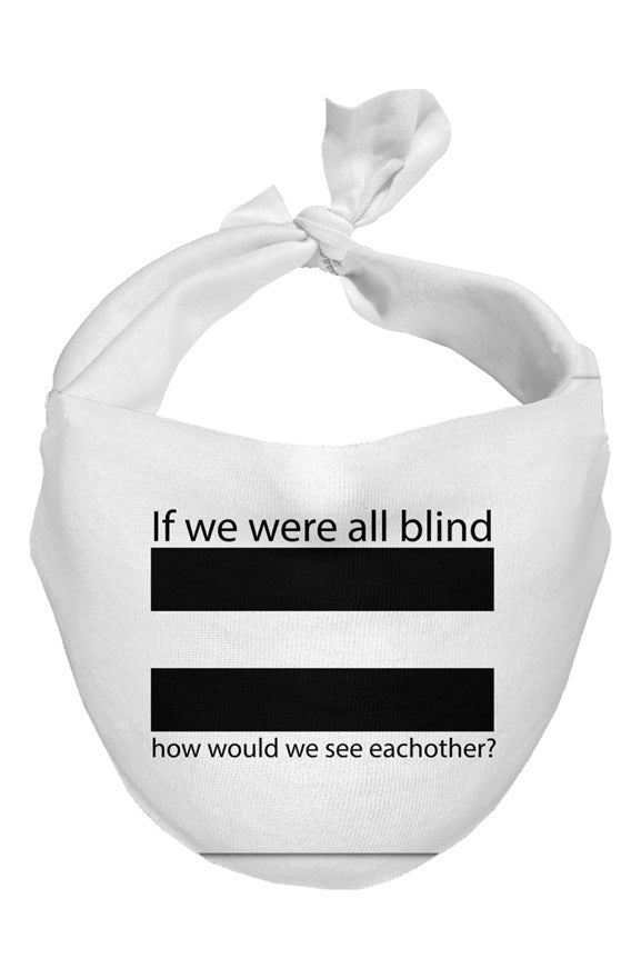 """If we were all blind"" Simple Face Scarves (3 Pack)"