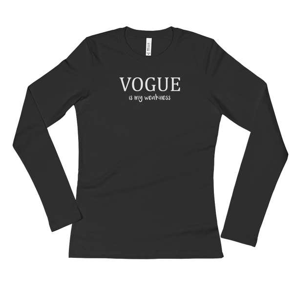 Vogue is my weakness - Ladies' Long Sleeve T-Shirt
