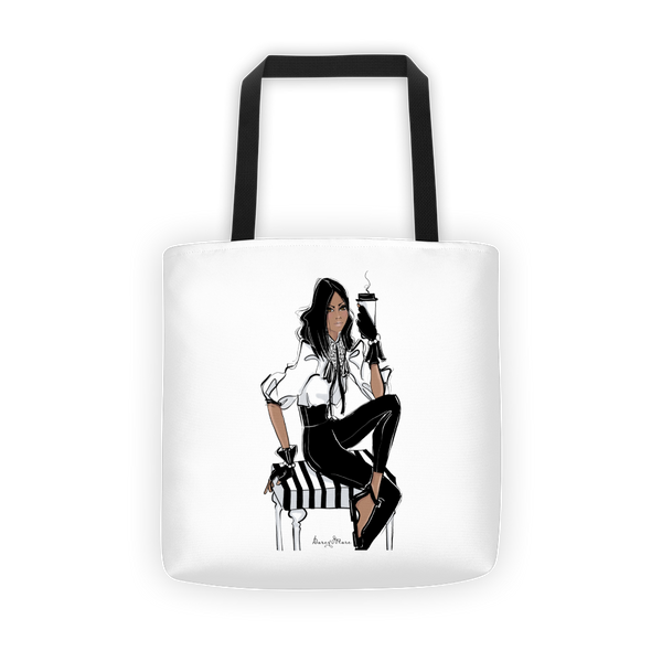 Park Ave Latté Girl Fashion Tote bag