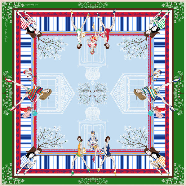 DarcyMarc Fashion Silk Habotai Scarf - Step into Spring