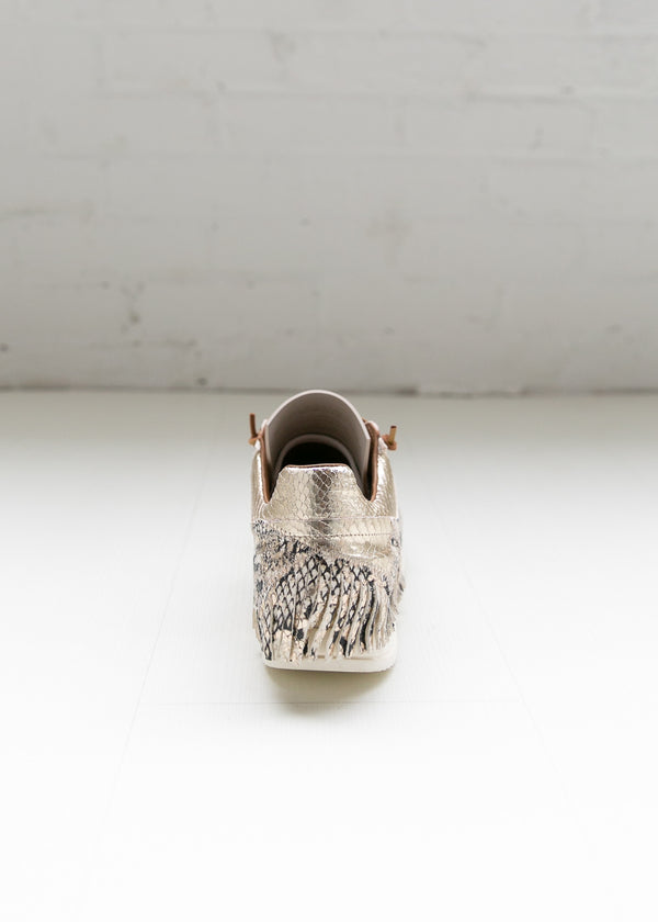 Esseutesse Python Leather Fringe Sneaker