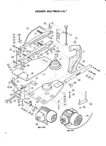 hegner multimax 14 multimax 2 parts advanced machinery norinco m14 parts diagram hegner multimax 14 multimax 2 parts