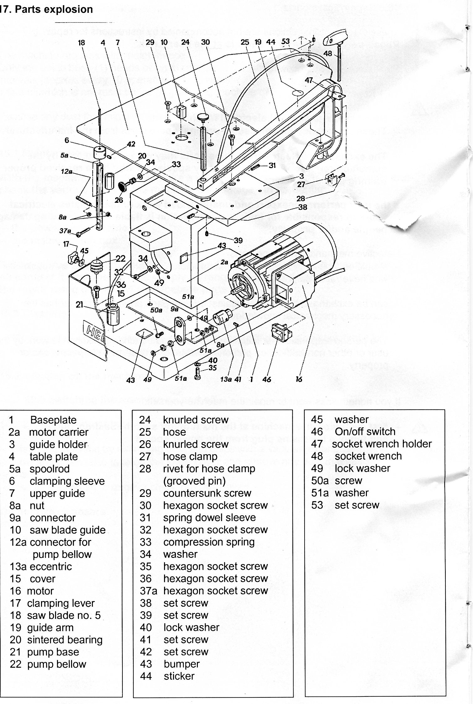 HEGNER Unimax Parts Diagram for Machine Serial Numbers 031607 and higher
