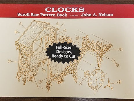 CLOCKS Scroll Saw Pattern Books : Nelson, Stackpole