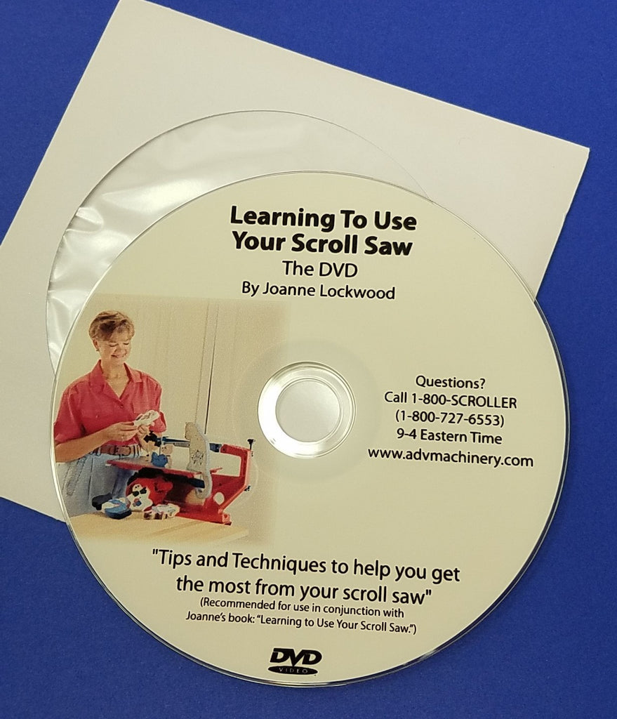LEARNING TO USE YOUR SCROLL SAW, DVD - JOANNE LOCKWOOD