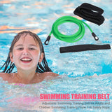 Adjustable Swim Training Resistance Belt for Adults & Kids | Stationary Swimming Bungee Rope