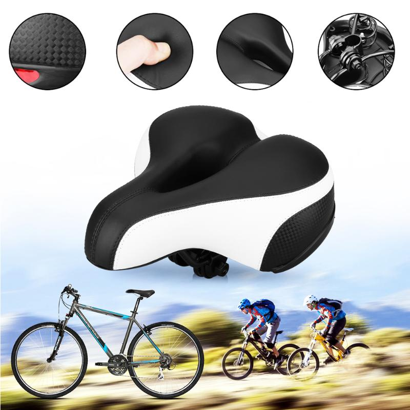 Mountain Bike Saddle Seat with Light Soft Seat Cushion | Bicycle Seat Cover Mat [Black/Red Color]