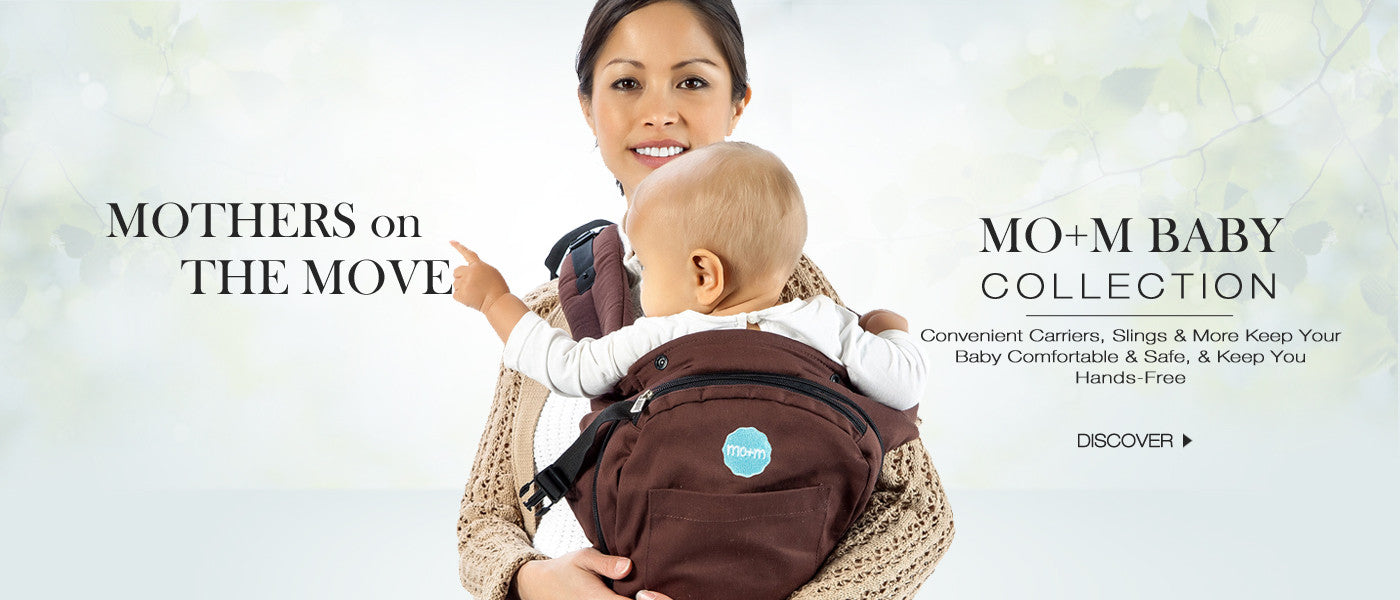 Mom Ergonomic Baby Sling Carrier with Mesh Cooling Vent, Hood & Pockets