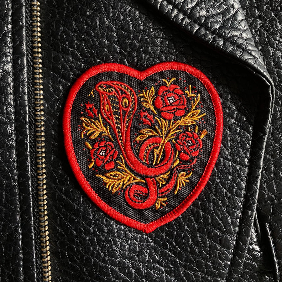 Snake Garden Heart Patch
