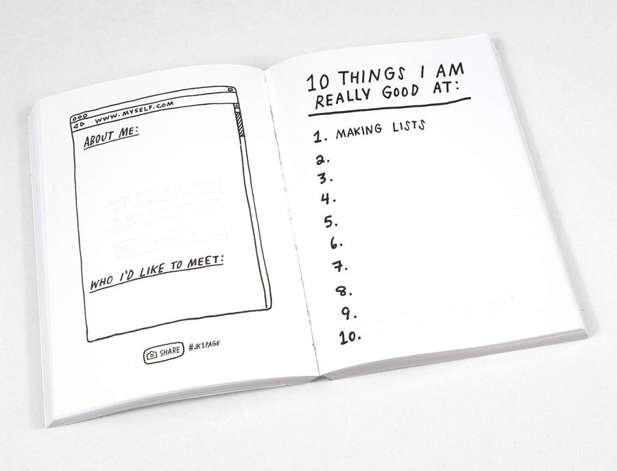 1 Page At A Time Book by AdamJK - World Famous Original