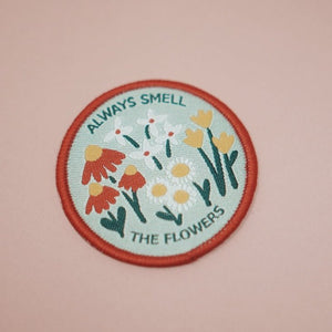 Always Smell The Flowers Mini Patch