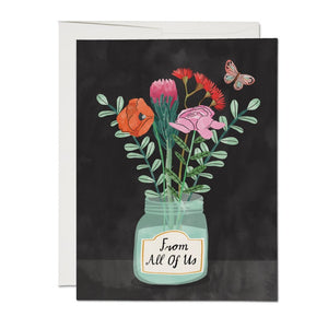 Flowers From All of Us - Sympathy Card