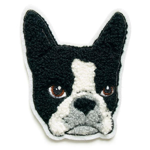 Boston Terrier Chenille Patch