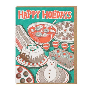 Happy Holidays Party Food Card
