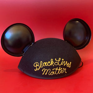 Chain Stitch Embroidered Mickey Mouse Ears