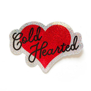 Cold Hearted Glitter Sticker