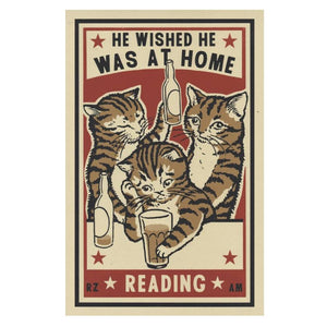 At Home Reading - 3 Color Screenprint - World Famous Original