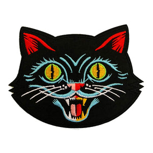 Big Black Cat Head Patch - World Famous Original