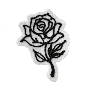 Black Rose - Chainstitch Patch - World Famous Original