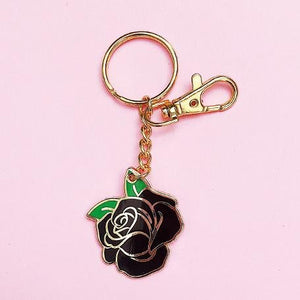 Black Rose Keychain - World Famous Original