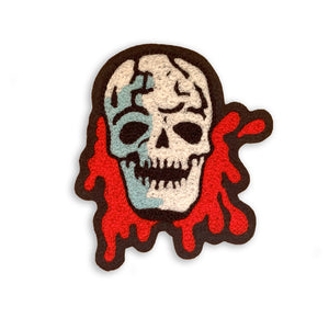 Bloody Skull Chainstitch Patch