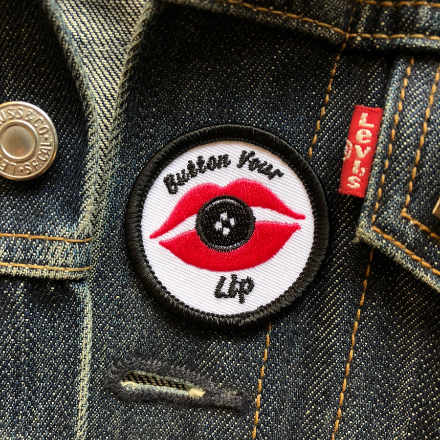 Button Your Lip - Mini Patch - World Famous Original