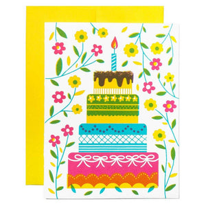 Cake With Flowers Card - World Famous Original