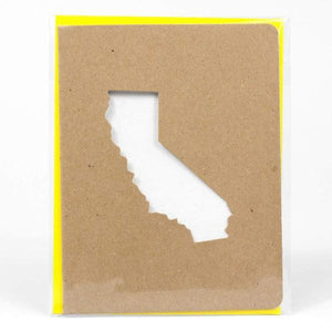 California Die Cut Greeting Card - World Famous Original