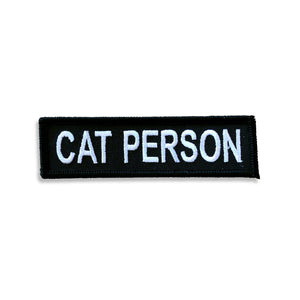 Cat Person Patch - World Famous Original