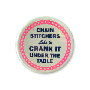 Chain Stitchers Button - 1.75""