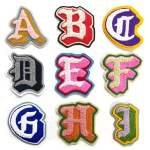 Chenille & Chainstitch Letter Patches Handmade Custom - World Famous Original