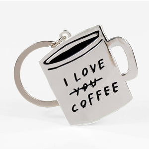 I Love You Coffee Keychain