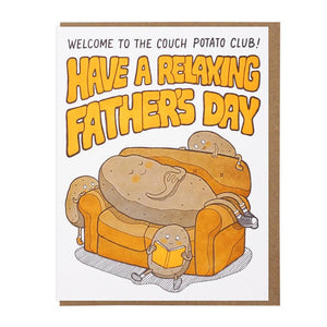 Couch Potato Father's Day Card - World Famous Original
