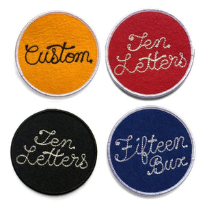 CUSTOM Chainstitch Circle Patches - World Famous Original