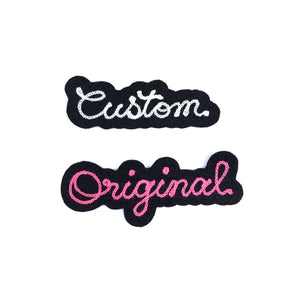 CUSTOM Mini Cut Felt Patches - World Famous Original