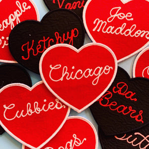 Custom Mini Heart Patches - World Famous Original