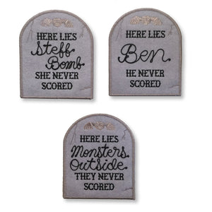 CUSTOM ... Never Scored Gravestone Patch - World Famous Original