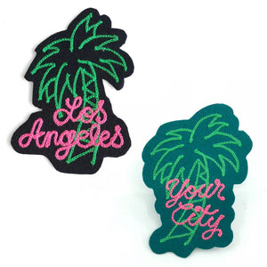 Custom Paradise Palm Tree Chainstitch Patch - World Famous Original
