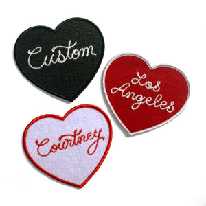 Custom Mini Heart Patches