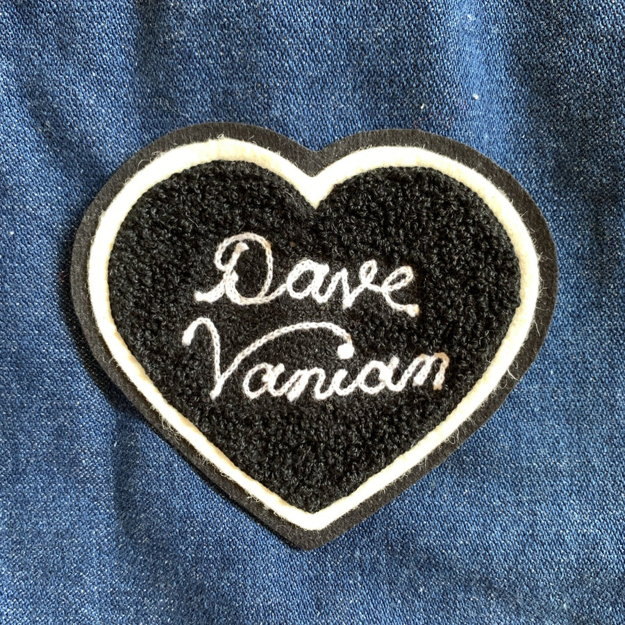 Dave Vanian Chenille Heart Patch - World Famous Original