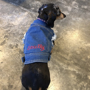 Denim Dog Vest (w/ Free Name Embroidery) - World Famous Original